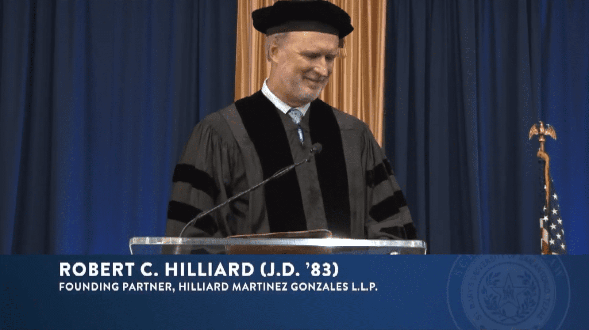 Hilliard Gives Keynote Speech for St. Mary's University