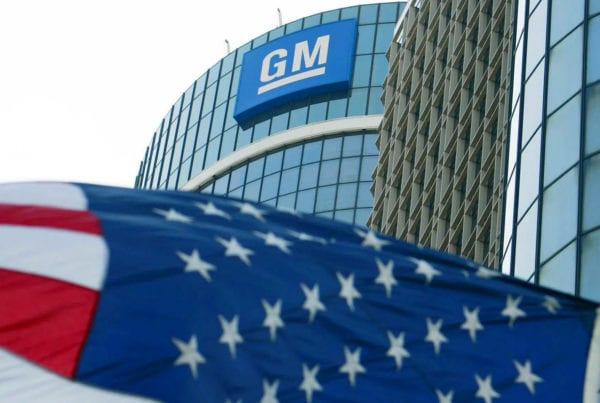 gm sign on building